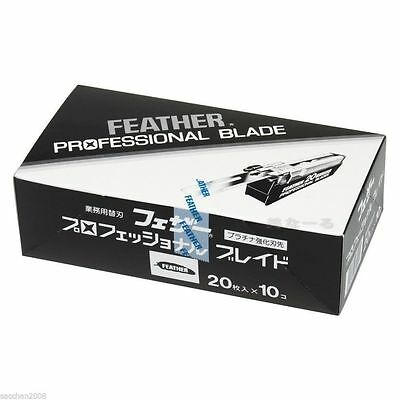 Feather Artist Club Professional Blade PB-20 x 10 packs 200 Blades from Japan