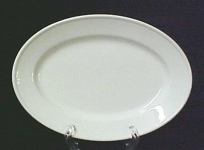 Oneida Classic Restaurantware Off White Oval Platter Plate Serving Dish Vintage