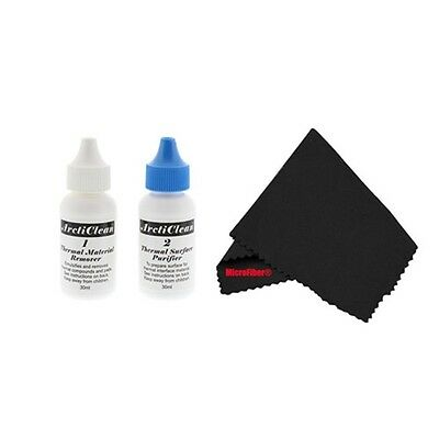 Arctic Silver ArctiClean 60ml Kit and MicroFiber ACN-60ML-MF Thermal Compound