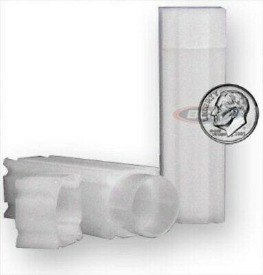 Lot of 20 Coin Safe Square Coin Tubes - Dime Size protectors tube holders