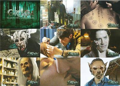 Grimm Season 2 Full 72 Card Base Set of Trading Cards from Breygent