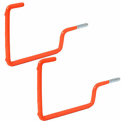 2 x LADDERS HOOKS Workshop Garden Shed Garage TOOL STORAGE Ceiling Wall Double