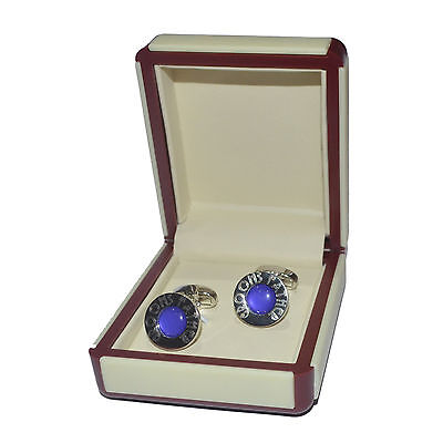 Art Deco Engraved Purple Grooms Father Cufflinks EXCLUSIVE X2DLW005