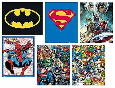 MARVEL & DC - Mini POSTERS (Official) 40x50cm Large Range (Wall/Room/Superhero)