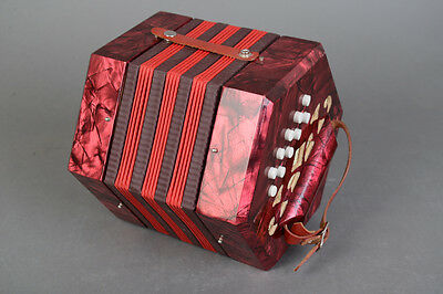 Double Row Concertina in C & G w/ Steel Bronze Reeds - Fully Serviced