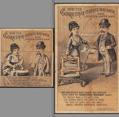 Poughkeepsie NY 1880's Conqueror Clothes Wringer Metamophic NY Advertising Card