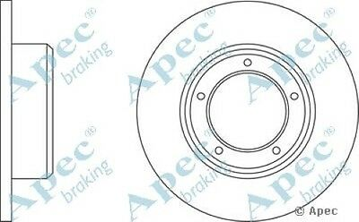 1x OE Quality Replacement Rear Axle Apec Solid Brake Disc 5 Stud 290mm Single