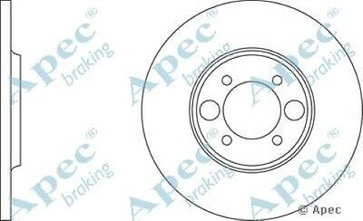 Single 1x OE Quality Replacement Rear Axle Apec Solid Brake Disc 4 Stud 264mm