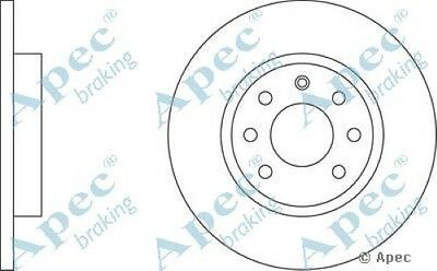1x OE Quality Replacement Rear Axle Apec Solid Brake Disc 5 Stud 300mm Single