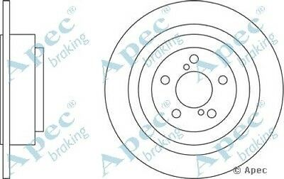 1x OE Quality Replacement Rear Axle Apec Solid Brake Disc 5 Stud 290mm - Single