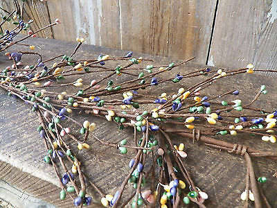 """Primitive  SPRING Mixed 55"""" Pip Rice Berry GARLAND Bendable Flexible"""