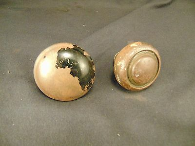 2 antique Vintage metal door knobs hardware architectural design classic repair