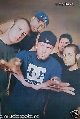 "LIMP BIZKIT ""BAND POSING WITH HANDS OUT"" POSTER FROM ASIA - Nu & Rap Metal Music"