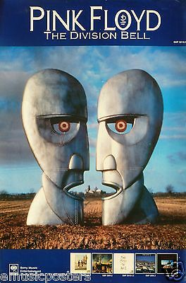 """PINK FLOYD """"THE DIVISION BELL"""" HONG KONG PROMO POSTER - Album Art Above 5 Covers"""