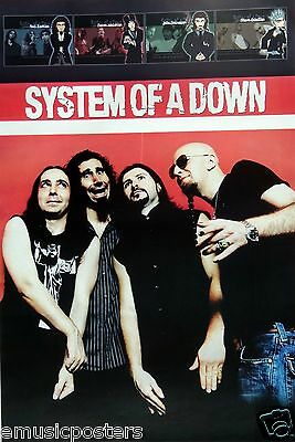 "System Of A Down ""cartoon Drawings & Group Shot"" Poster From Asia"