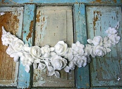 Shabby & Chic Rose Swag French ~ Huge * Furniture Appliques