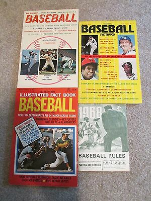 W19 Lot of 4 Vintage Baseball Books 1974 1977 Fact Book Big Book Tommy Kays