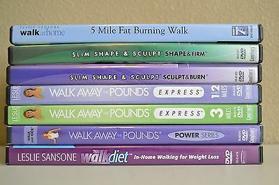 Lot 7 Leslie Sansones DVDs S-62 Guaranteed To Play