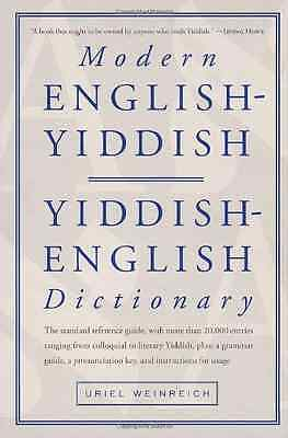 Modern English / Yiddish Dictionary - Paperback NEW Weinreich, Urie 1988-10-31