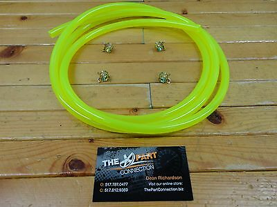 """Electric Yellow 1/4"""" Fuel Line Kit For Snowmobile Dirt Bike Atv Mower Motorcycle"""