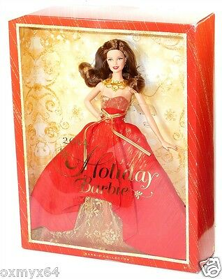 2014 Barbie Collector Holiday Doll Brunette KMart Exclusive In Hand!