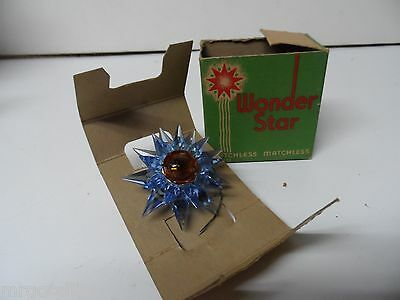 1930s C-6 Small Double MATCHLESS STAR Light - BLUE BLUE AMBER in ORIGINAL BOX