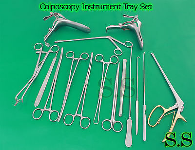 Colposcopy Instrument Tray Set - 20 pieces