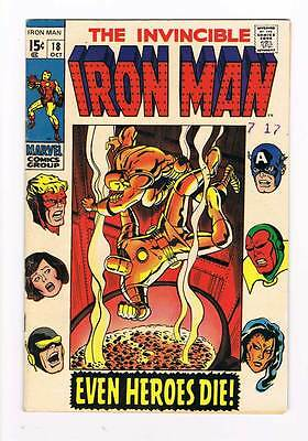 Iron Man # 18  Even Heroes Die ! The Avengers grade 5.0 movie scarce hot book !!