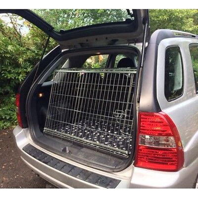 Kia Sportage Sloping Car Dog Cage Boot Travel Crate Puppy Guard
