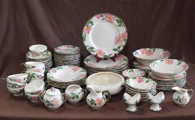 Vintage Franciscan Desert  Rose China Dinnerware 83 pcs total - Serving Lot #4