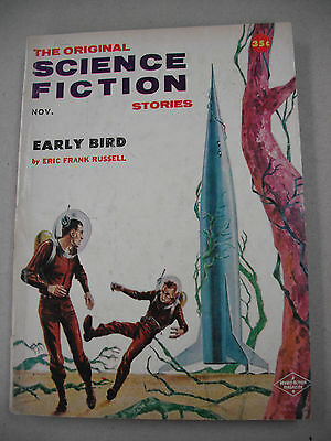 """""""THE ORIGINAL SCIENCE FICTION STORIES"""" 11/57 FINE! ERIC FRANK RUSSELL! FREAS ART"""