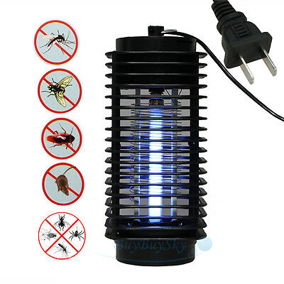New House Electronic Bug Mosquito Killer Zapper Eliminate lamp Light 110V Black
