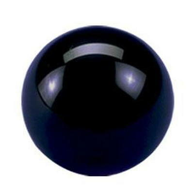 "New BLACK CUE BALL - 2 1/4"" - Regulation Sz/Wt"
