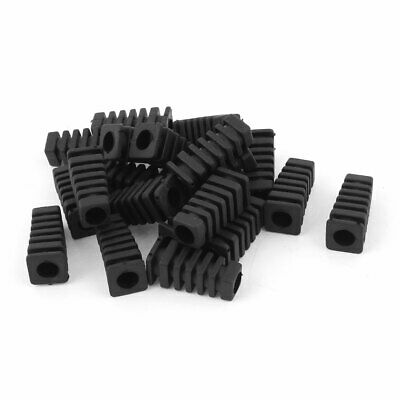 20pcs 27x9x6mm Mini Rubber Square Strain Relief Cord Boot Protector Cable Sleeve
