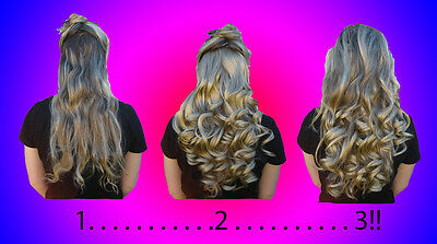 "19"" Curly Long Clip-In Half Extension Piece *2-3 Tone* ~Feels like Human Hair~"