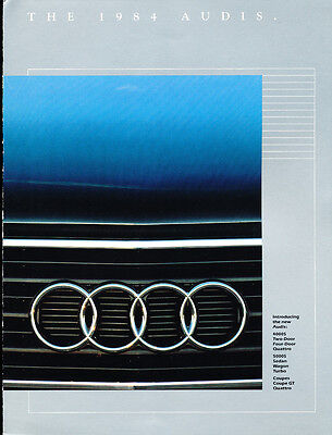 1984 Audi 5000 5000S Turbo Sedan Original Car Sales Brochure Folder