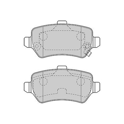 1x OE Quality Economy Engineered Replacement Rear Axle Brake Pad Set