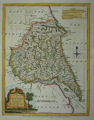 A MODERN MAP OF THE EAST RIDING OF YORKSHIRE BY JOSEPH ELLIS 1768.