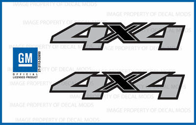 set of 2: 2011 Chevy Silverado 4x4 decals - F - side 1500 2500 HD stickers truck