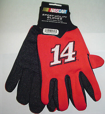 NEW Tony Stewart 14 GLOVES adult size Red Color Yard 2012 Tailgate Party NASCAR