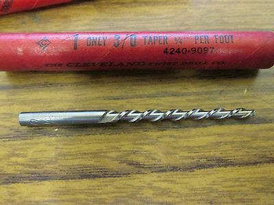 CLEVELAND Size 3/0 HIGH SPEED TAPER PIN MACHINE REAMER