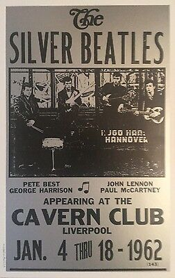 The Silver Beatles playing at the Cavern Club in Liverpool Poster Print