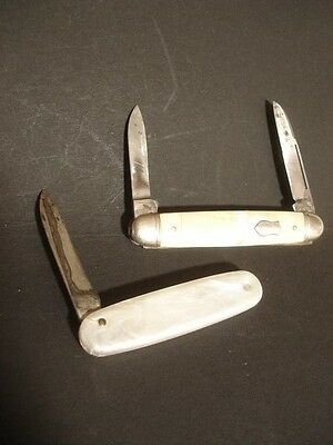 VINTAGE IMPERIAL MOTHER OF PEARL PEN KNIFE KNIVES LOT
