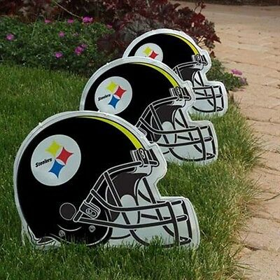 NFL Officially Licensed 3 pack Lighted Pathway Markers (Pittsburgh Steelers)