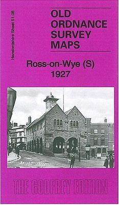 2 x DETAILED ORDNANCE SURVEY MAPS, ROSS-ON-WYE NORTH AND SOUTH PAIR OF MAPS 1927