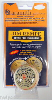 NEW ARAMITH JIM REMPE TRAINING CUE BALL, Great Price! FREE SHIPPING