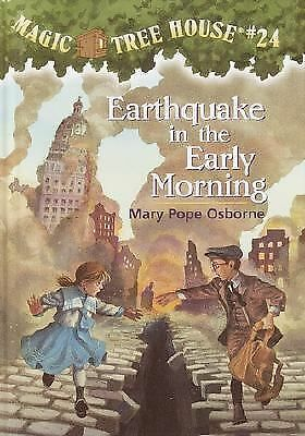 Earthquake in the Early Morning No. 24 by Mary Pope Osborne (2001, Hardcover)