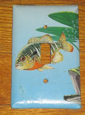 Bluegill Sunfish Colorful Artwork Wild Game Fish Light Switch Cover Plate