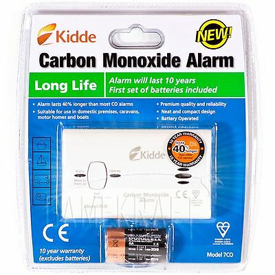Kidde 7CO Carbon Monoxide Alarm Detector Latest Design 10YR WARRANTY Clam Pack