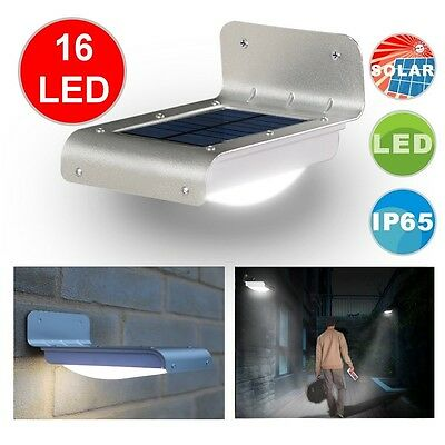 Bright PIR LED Solar Outdoor Waterproof Motion Sensor Gutter Wall Garden Light